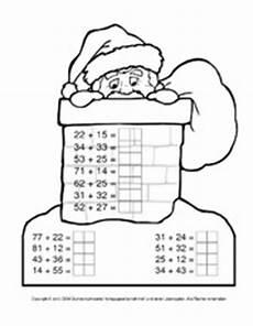 Ausmalbild Weihnachten Rechnen Zahlenraum 100 In Der Grundschule Weihnachtsrechnen