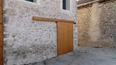 porte coulissante exterieur bois fabrication porte de grange coulissante nouveau fabriquer