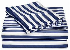 600 thread count queen sheet set cotton rich cabana stripe navy blue traditional sheet and