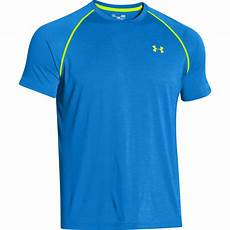 armour s tech t shirt jet blue hi vis yellow