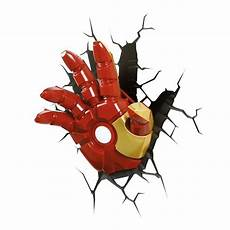 3d deco superhero wall light iron man hand by thinkgeek gamestop