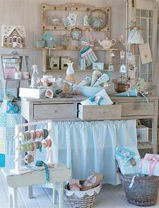 inexpensive shabby chic craft table ideas 3 decorelated