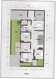 Denah Rumah Sederhana 5 X 12 Arsihome