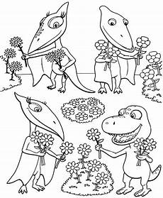 coloring pages from the animated tv series dinosaur