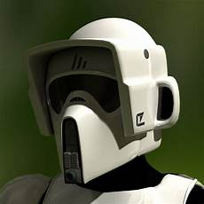 wars scout trooper motorcycle helmet 3d by retro scout trooper helmet