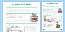 all about me maths display poster worksheet year 3 4 all