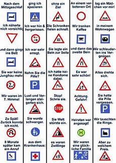 Verkehrszeichen Und Ihre Bedeutung - verkehrssignale 252 bersicht verkehrssignale