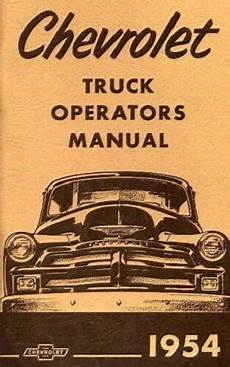 how to download repair manuals 1992 chevrolet s10 seat position control chevrolet 1954 truck owner s manual 54 chevy pick up ebay