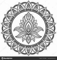 ein kreisf 246 rmiges muster in form eines mandalas henna