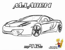 Car Coloring Of Mclaren Mp4 At Pages Book For Kids Boyscom