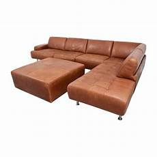 46 W Schillig W Schillig Leather Sectional With