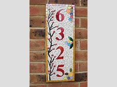 Mosaic House Number, Sign, Plaque, Street Address, Yard
