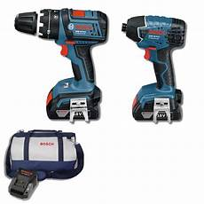 Bosch Bohrmaschine Blau - bosch blue 18v lithium ion 2 professional drill kit