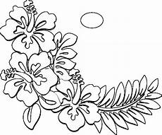 coloring pages of hawaiian flowers coloring home