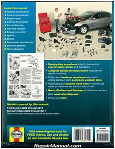 online car repair manuals free 2009 ford fusion user handbook haynes ford fusion 2006 2014 mercury milan 2006 2011 auto repair manual h36045 ebay