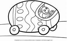 kostenlose malvorlage ostern osterhase und sein auto zum