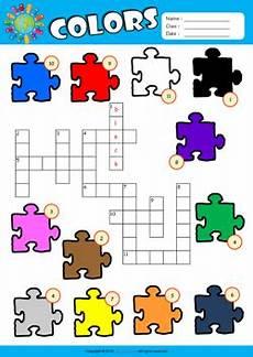 colors crossword worksheets 12726 colors esl printable worksheets for 1