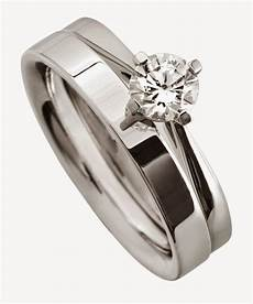 s wedding ring sets stainless steel with diamond design