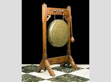 A Neo Gothic Oak Dinner Gong And Stand   Antiques Atlas