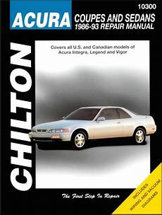 auto manual repair 1993 acura vigor electronic throttle control acura integra legend vigor repair manual 1986 1993 chilton 10300