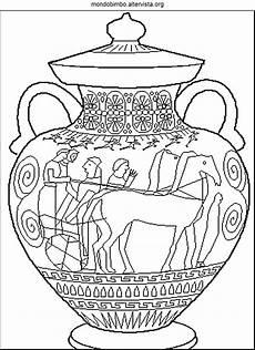 vasi greci scuola primaria disegni da colorare maschere greche coloradisegni
