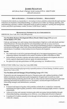 banking resume exle