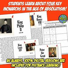 age of absolutism absolute rulers 3 activities to teach absolute monarchs