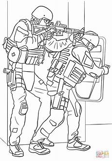 Ausmalbilder Polizei Im Einsatz Fbi Swat Team Coloring Page Free Printable Coloring Pages