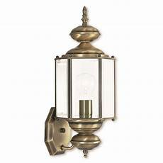 livex lighting antique brass outdoor wall light 2006 01 destination lighting