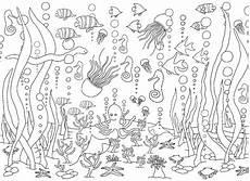 kostenlose ausmalbilder unterwasserwelt meerestiere f 252 r