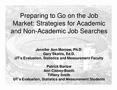 aea job market preparing to go on the job market strategies for academic and non ac