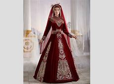 Dark Red Long Sleeve Luxury Muslim Hijab Clothing Evening