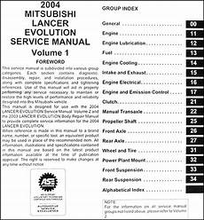 automotive service manuals 2003 mitsubishi lancer evolution transmission control 2004 mitsubishi lancer evolution service manual original 2 vol set