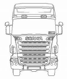 truck scania coloring sketch coloring page