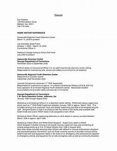 juvenile detention officer resume exle http resumecareer info juvenile detention