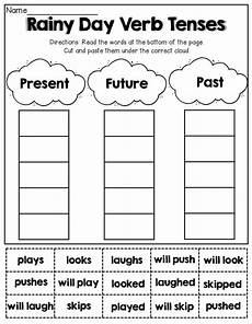 verb tenses cut and paste grammar pinterest spring verb tenses and literacy