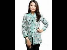 Gambar Atasan Baju Batik Lengan Panjang Untuk Wanita Model