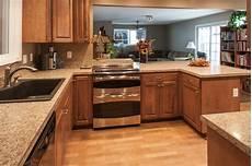 Kitchen Backsplash Ideas With Birch Cabinets by Birch Kitchen Cabinets Laminate Flooring Stainless Steel