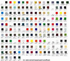 mr color paint list mr color solvent based paint color chart mech9 com and mecha review site shop