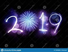 2019 happy new year fireworks stock image image of