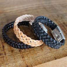 Diy Mens Braided Leather Bracelet Braids 4 To 6 Strands