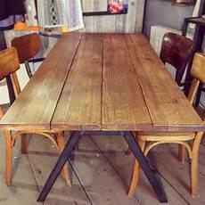 table de ferme ancienne l 233 on en ch 234 ne sur mesure for me lab