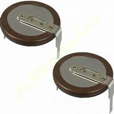2 x panasonic vl2020 rechargeable battery for bmw key fob