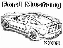 1969 Boss Mustang Car Coloring Pages  Best Place To Color