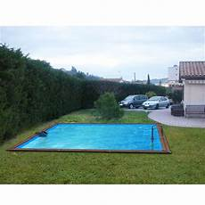 piscine semi enterrée aluminium waterclip piscine bois alu 460x460x147 optimum achat