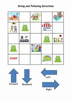 giving directions maths worksheets 11734 y1 position and direction activity teaching resources