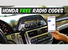 HONDA RADIO CODE FOR FREE   YouTube