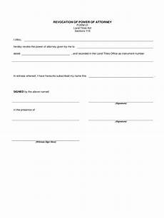 revocation of power of attorney form 17 free templates in pdf word excel download