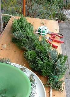 tannengirlande binden tannengirlande weihnachtsdeko