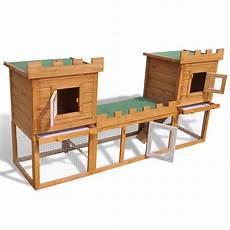 gabbie per conigli da esterno articoli per gabbia due casette per conigli da esterno